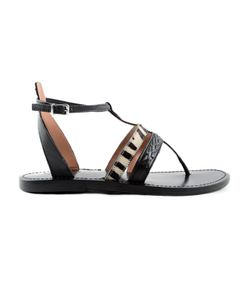 Twin-Set | Zebra Strap Flat Sandals