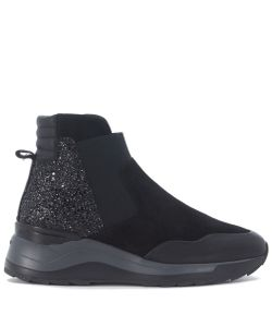 Hogan Rebel | R 296 Lace Ankle Shoes In Leather And