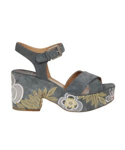Laurence Dacade | Embroidered Denim Sandals