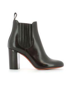 Santoni | Leather Heeled Ankle Boots