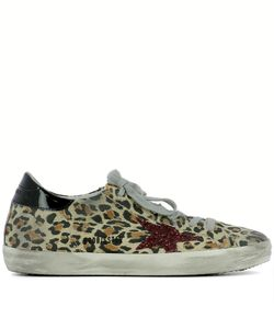 Golden Goose | Leopard-Skin Printed Leather Sneakers