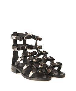 Toga | Studded Leather Bow Sandal
