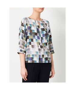 Kin by John Lewis | Painted Square Print Top