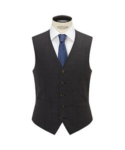 Chester by Chester Barrie | Semi Plain Wool Slim Fit Waistcoat