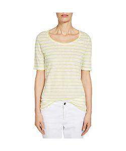 Oui | Stripe Cotton Linen T-Shirt Light