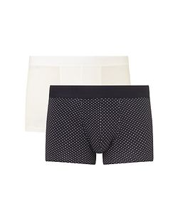 Sunspel | Dot Plain Trunks Pack Of 2 Navy