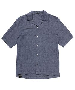 Denham | Camp Linen-Blend Shirt Clch Indigo