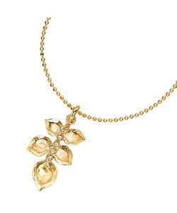 Dower & Hall | Topaz Wild Rose Leaf Pendant Necklace