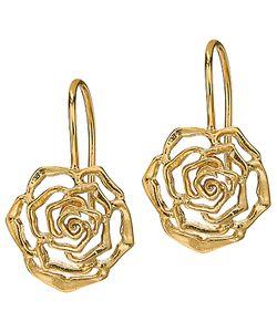 Dower & Hall | Wild Rose Drop Earrings
