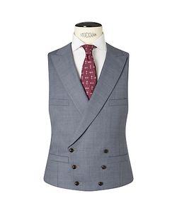 JOHN LEWIS & Co. | Co. Drayton Wool Crossweave Tailored Waistcoat Smokey