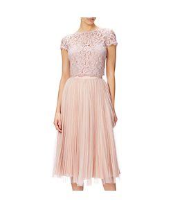 Adrianna Papell | Petite Sunburst Pleat Tulle Skirt Blush