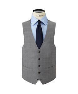 John Lewis | Woven In Italy Super 120s Wool Check Tailored Waistcoat