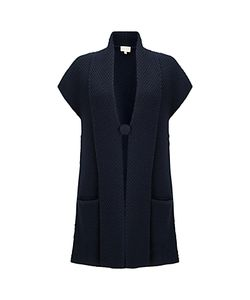 East   Textured Knitted Waistcoat Sapphire