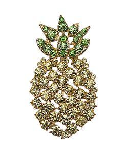 John Lewis | Glass Crystal Pineapple Brooch