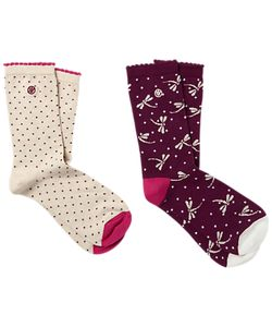 Fat Face | Spot And Dragonfly Print Ankle Socks Pack Of 2