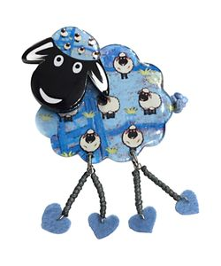 One Button | Resin Sheep Brooch