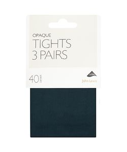 John Lewis | 40 Denier Opaque Tights Pack Of 3