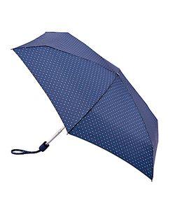 Fulton | Tiny Polka Dot And Heart Print Umbrella Navy/Multi