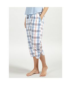 John Lewis | Lilian Check Cropped Pyjama Bottoms Ivory/