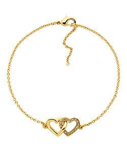 Melissa Odabash   Swarovski Crystal Double Heart Bracelet
