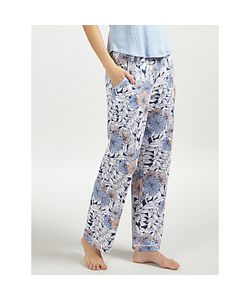John Lewis | Lucinda Tape Pyjama Bottoms Navy/Melon