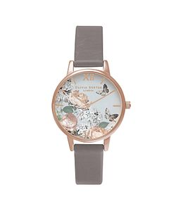 Olivia Burton | Ob16eg67 Enchanted Garden Leather Strap Watch