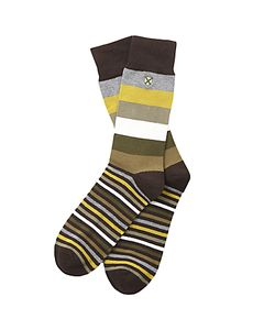 Barbour | Heywood Stripe Socks One Size Olive/