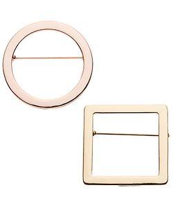 John Lewis | Geometric Shape Brooches Pack Of 2 Multi