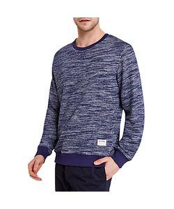 HYMN | Snarf Slub Stripe Sweatshirt Navy