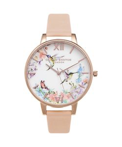 Olivia Burton | Ob15pp12 Painterly Prints Leather Strap Watch Nude Peach/
