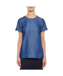 Ted Baker | Colour By Numbers Bow Tie Sleeve T-Shirt Mid Wash