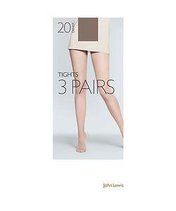 John Lewis | 20 Denier Tights Pack Of 3