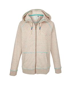 Fat Face | Nepped Full Zip Hoodie Misty Surf