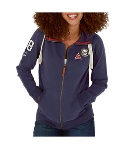 Fat Face | Badged Club Full Zip Hoodie Navy