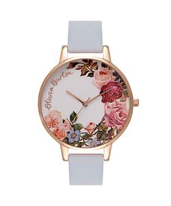 Olivia Burton | Ob16er06 English Garden Leather Strap Watch Chalk