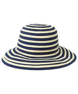 Fat Face | Stripe Bucket Hat Natural/Navy