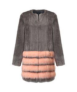 Unreal Fur | Tundra Coat Charcoal/Peach