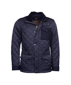 Barbour | Land Rover Defender Anmer Quilted Mid-Length Jacket Navy
