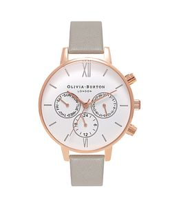 Olivia Burton | Ob16cg91 Chrono Detail Chronograph Leather Strap Watch