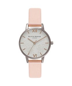 Olivia Burton | Lace Detail Leather Strap Watch