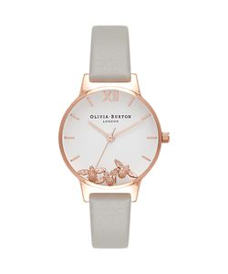 Olivia Burton | Ob16ch03 Busy Bees Leather Strap Watch