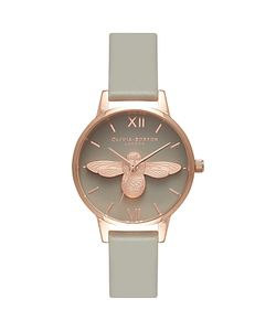 Olivia Burton | Ob15am54 Animal Motifs Bee Leather Strap Watch