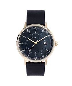 Paul Smith   Gauge Date Leather Strap Watch