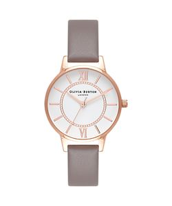 Olivia Burton | Wonderland Leather Strap Watch