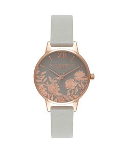 Olivia Burton | Womens Lace Detail Leather Strap Watch