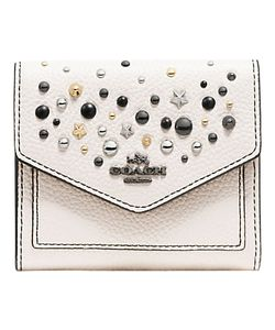 Coach | Crossgrain Leather Star Rivets Small Purse Chalk