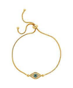 Melissa Odabash   Adjustable Crystal Eye Chain Bracelet