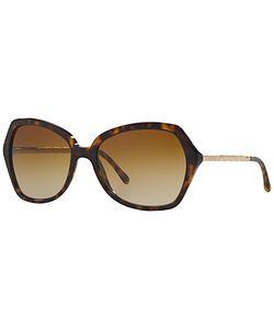 Burberry | Be4193 Square Polarised Sunglasses Tortoise