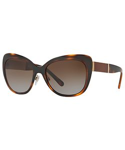 Burberry | Be3088 Polarised Cats Eye Sunglasses Tortoise/ Gradient