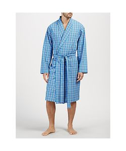 John Lewis | Linford Check Cotton Poplin Robe